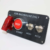 China 12V 30A Ignition Switch Engine Start Push Button 2 Toggle Panel with Indicator Light DIY Racing Car Modification Switch wholesale