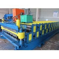 China Double Deck Profile Wall Roof Panel Roll Forming Machine Hydraulic Type wholesale