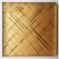 China 7MM Clear Security Laminated Art Glass Grid Pattern Wired Mesh Embedded wholesale