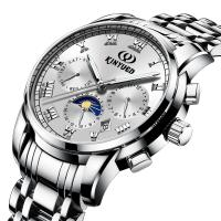 China White Dial Mens Mechanical Watches  Stainless Steel Mechanical Watch on sale