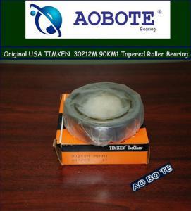 China Sealed 2RS Timken Taper Roller Bearings , 30212M 90KM1 Single Row Bearing wholesale