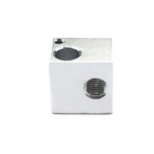 China 16*16*12mm Aluminum E3D V5 3D Printer Heater Block For Makerbot wholesale
