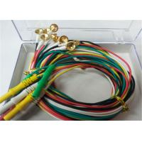China 1.5m TPU EEG Cables With Gold Plating Copper Electrodes 2.0mm Connector wholesale
