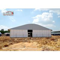 China Tear Resistant 20 x 50m Outdoor Party Tents Arcum Shape With Glass Walls wholesale