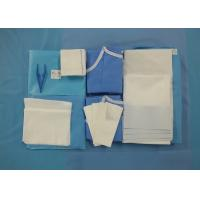 China Surgeon Caesarean Disposable Surgical Packs Non Woven C Section Drape Included on sale
