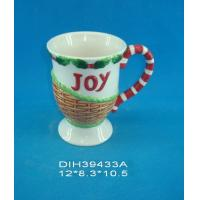China Customized Environmental Sublimation Ceramic Mugs Wording Joy Printed For Home And Hotel wholesale