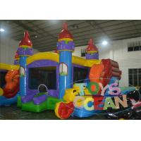China Commercial Inflatable Bouncer House Jumping Castle With Small Slide For Kinds wholesale