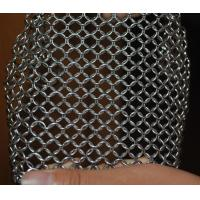 China 304 Stainless Steel Chainmail Scrubber Kitchen Cast Iron Hardware Cleaner 7 * 7 inch wholesale