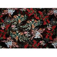 China DTM Floral Embroidery Multi Colored Lace Fabric For Show Dress Eco Friendly wholesale