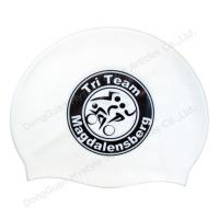 Quality speedo silicone swim cap white for sale