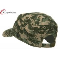 Quality Army Flat US Army Digital ACU Washed Cotton Military Baseball Hats with Curved Bill and Buckle Closure for sale