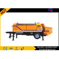China 80 Cubic m/h Portable Electric Concrete Pump Outline Dimension 6400x2100x2200 wholesale