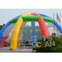 Quality Giant Customized Rainbow Color Outdoor Inflatable Marquee Party Tent for sale