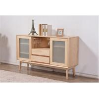 China Simple Dining Room Storage Cabinet , Frosted Glass Door Storage Cabinet 600H wholesale