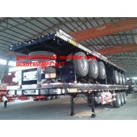 Buy cheap 2/3/4 Axles Flatbed Semi-Trailer For Transporting Containers, Jost Support Leg,  Fuwa Axle/ BPW Axle from wholesalers