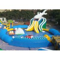 China Inflatable water park / inflatable pool park air tight pvc tarpaulin wholesale
