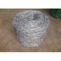 China Single Twisted Galvanized High Tensile Barbed Wire Security For Industry wholesale