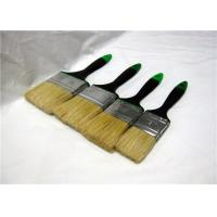 China Pure White Bristle Flat Paint Brush With Dark Blue Rubber Handle For Wall Cleaning wholesale