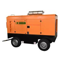 China Light Weight Diesel Powered Portable Air Compressor Good Dynamic Balance wholesale