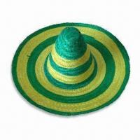 China Mexican Hat, Suitable for Parties, Made of Natural Grass, Available in Various Designs wholesale