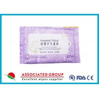 China Personal Hygiene Wet Tissue Non Irritating Feminine Wipes Healthy Unscented wholesale