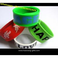 China 2016 Promotion Cheap Custom Silicone Slap Bracelet With your Logo wholesale