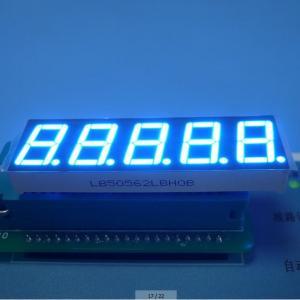 "China Ultra Blue 5 Digit 7 Segment Display Eco Friendly Custom 100 mcd 0.56"" wholesale"