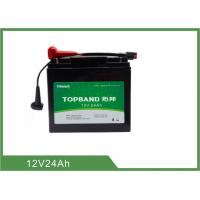 China Golf Trolley Smart Lithium Battery , Long Cycle 12 Volt Charging Lifepo4 Batteries on sale