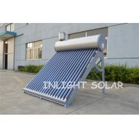 China Silver Fluorocarbon PVDF Plate Solar Hot Water Heater Low Pressure Vacuum Tube wholesale