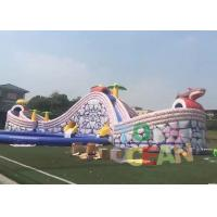 China Commercial Gaint Inflatable Shark Slides Design Big Water Slide With Round Pool For Kids wholesale