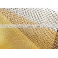 China Filtrate Brass Wire Mesh Abrasion , Copper Screen Mesh For Shielding Material / Printing wholesale