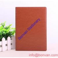 China high quality pu black diary notebook with pen & a5 leather notebook wholesale
