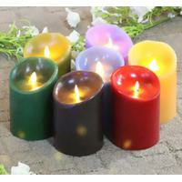 China Colorful Real Wax Led Candle Motion Flame Battery Operated Candle on sale