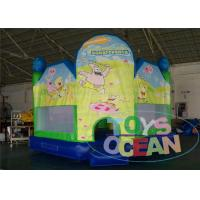 China Green Indoor Playground With Bouncy Castle / Funny Bouncy Jumping Castles wholesale