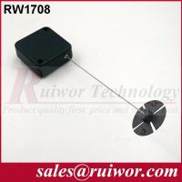 China Anti Theft Recoiler Security Pull Box With Gummy ABS Plate Terminals / Square Shape wholesale