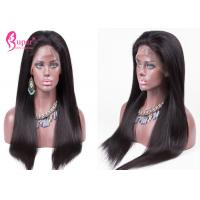 China Natural Color Remy Lace Front Wigs For Black Woman Glueless Free Tangle wholesale