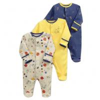 China Spring Long Sleeve Unisex Kids Clothes 100% Organic Cotton Baby Boy Rompers wholesale