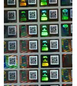 China QR Code Hologram Sticker wholesale
