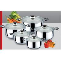 China ss 410 Kitchen Stainless Steel Cookware Sets with Body Thickness 0.3mm wholesale