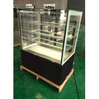China commercial marble glass bakery pastry cake display refrigerator cabinet showcase on sale