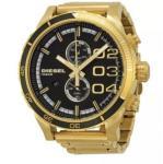 China New Men's Diesel DZ4337 Double Down Black Dial Gold Tone Chronograph Watch wholesale