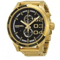 Buy cheap New Men's Diesel DZ4337 Double Down Black Dial Gold Tone Chronograph Watch from wholesalers