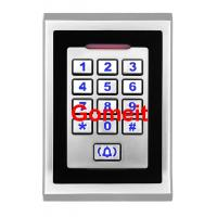 China Metal Keypad Standalone RFID Access Control  8000 Users Capacity  80 X 25 X 120mm wholesale