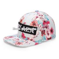 Quality Fashion Flower Design Sport Truck Flat Snapback Cap SC-007 for sale
