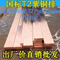 China T2 Brass Red Copper Flat Bar Low Voltage Electrical Distribution Busbar 2~20mm X 20~600mm wholesale