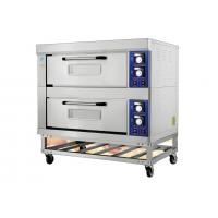 China 2 Decks 4 Trays Electric Far-Infrared Bakery Oven Stainless Steel Exterior Independent Chambers and Temperature Control wholesale