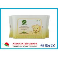 China Resealable Soft Non - Allergic Nonwoven Spunlace Wet Wipes Baby 25 Sheets wholesale