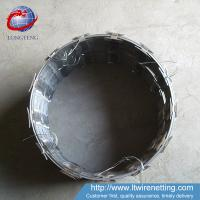 China High Duribility Concertina Barbed Wire , Galvanized Razor Wire PVC Coated wholesale