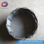 China Iron BTO-14 Galvanized Barbed Wire Concertina Razor Wire Sliver Color wholesale