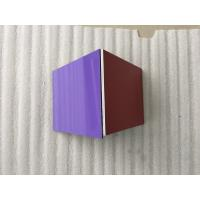 China Silver / Purple ACP Aluminium Composite Panel Smooth Surface For Wall Decoration wholesale